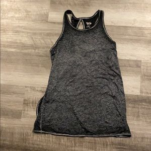 Charcoal gray tank top